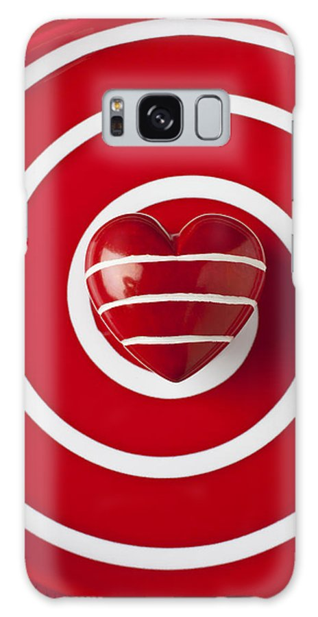 Red Galaxy S8 Case featuring the photograph Red Heart Soft Stone by Garry Gay