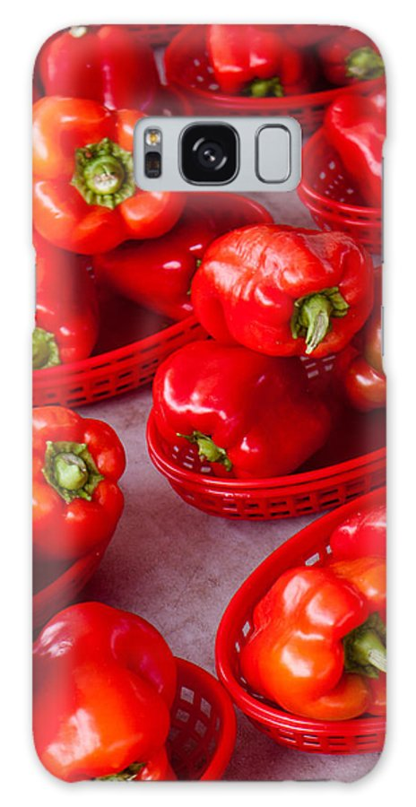 Pepper Galaxy S8 Case featuring the photograph Red Peppers by Lauri Novak