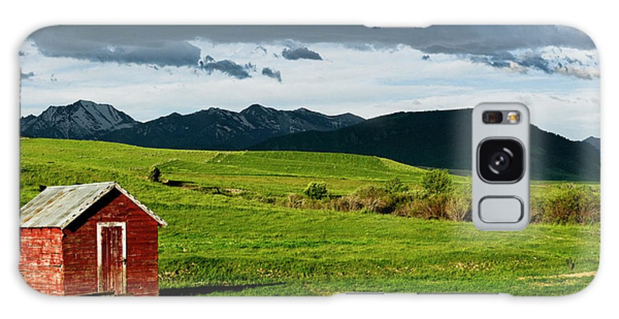 Americas Galaxy S8 Case featuring the photograph Red Shed by Roderick Bley