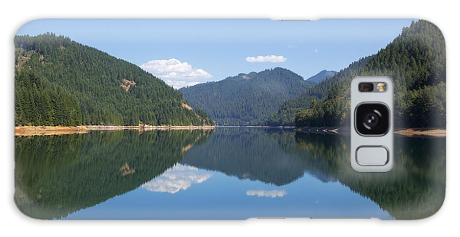 Art Galaxy S8 Case featuring the photograph Reflection At The Reservoir by Belinda Greb