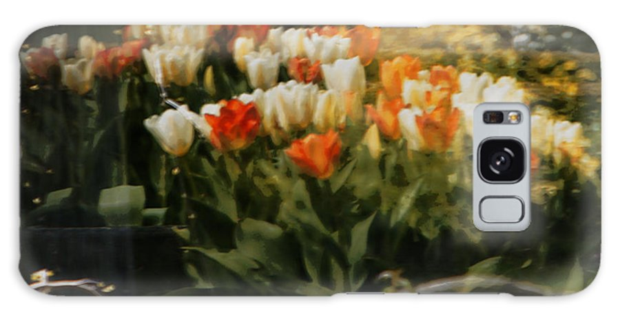 Tulips Galaxy S8 Case featuring the photograph Window Reflections by Marilyn Wilson