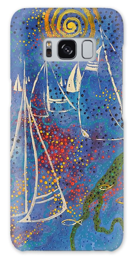 Pittura Galaxy S8 Case featuring the painting Regata Di Primavera by Giuseppe Sticchi