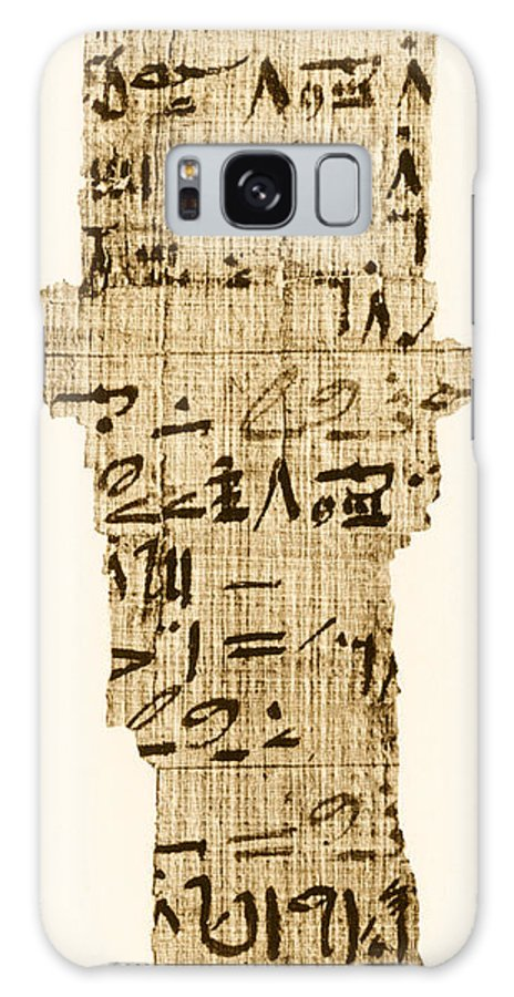 Ahmes Galaxy S8 Case featuring the photograph Rhind Papyrus by Photo Researchers