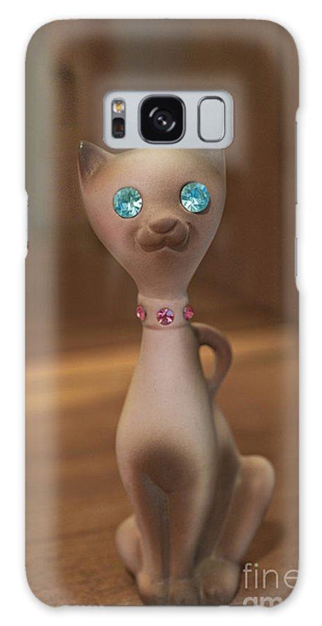 Rhinestone Galaxy S8 Case featuring the photograph Rhinestone Cat by Anne Kitzman
