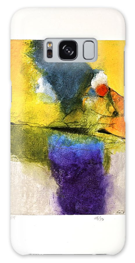 Abstract Galaxy S8 Case featuring the painting Rift  --start- 5-16 by Cliff Spohn