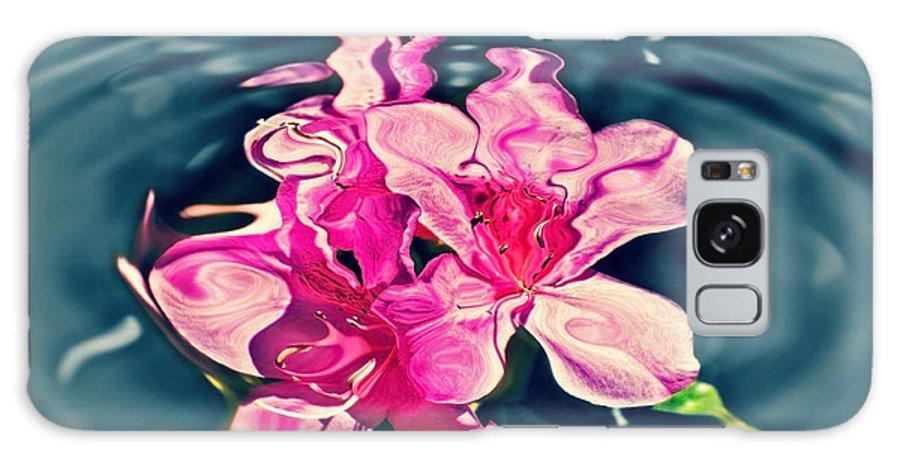 Azaleas. Water Galaxy S8 Case featuring the photograph Rippling Flowers by Susan Leggett