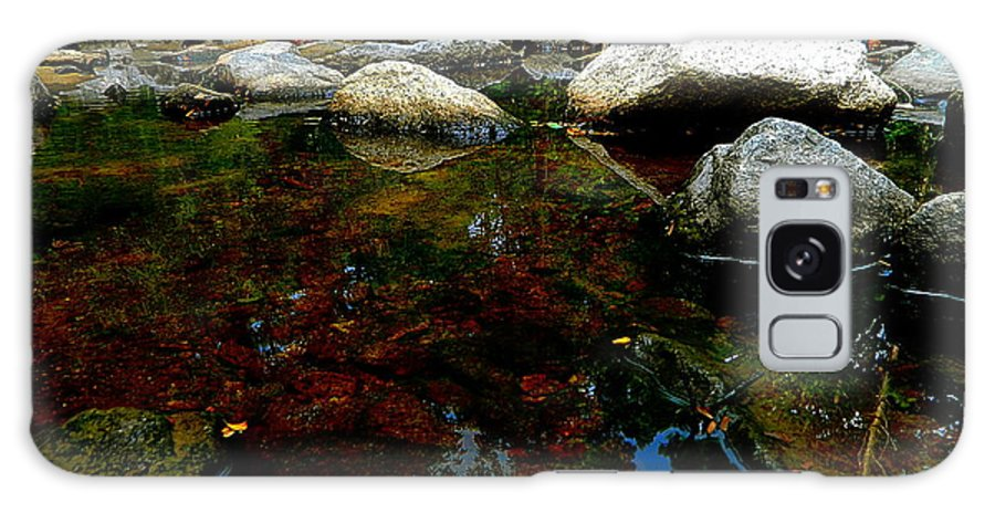 River Galaxy S8 Case featuring the photograph River Water And Rocks by Ester Rogers
