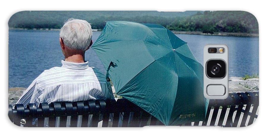 Umbrella Galaxy S8 Case featuring the photograph Riverfront Green by Christina Moreno