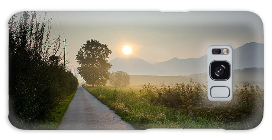 Road Galaxy S8 Case featuring the photograph Road In Sunrise by Mats Silvan