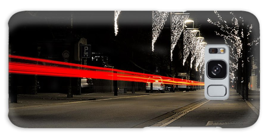 Road Galaxy S8 Case featuring the photograph Road With Lights by Mats Silvan