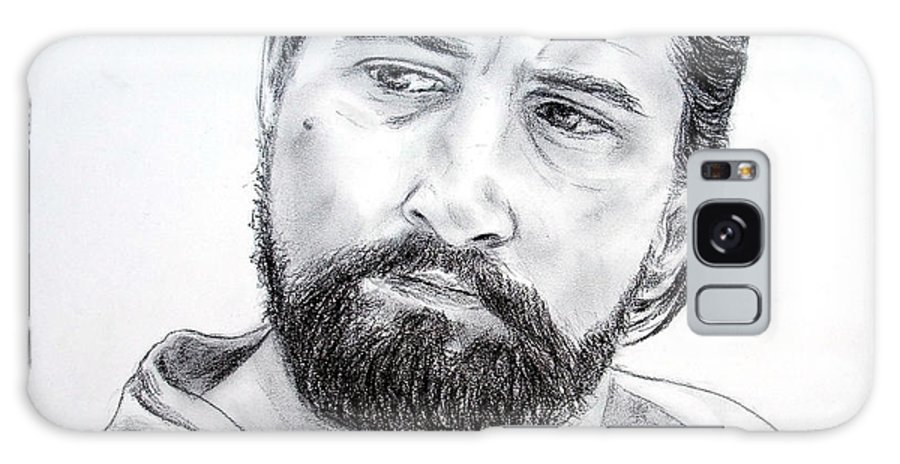 Robert De Niro Galaxy S8 Case featuring the drawing Robert De Niro In The Mission by Jim Fitzpatrick