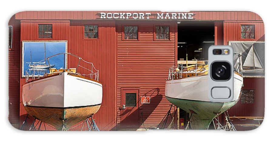 Boat Builder Galaxy S8 Case featuring the photograph Rockport Marine by John Greim