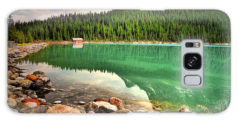 Lake Louise Galaxy S8 Case featuring the photograph Rocks And Reflections by Tara Turner