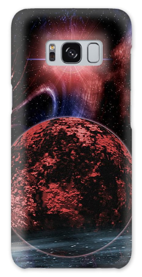 Planet Galaxy S8 Case featuring the photograph Rocky Extrasolar Planet by Victor Habbick Visions