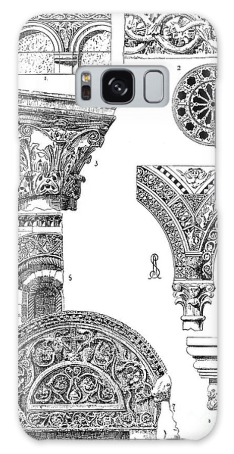 Ancient Galaxy S8 Case featuring the photograph Romanesque Ornament by Granger