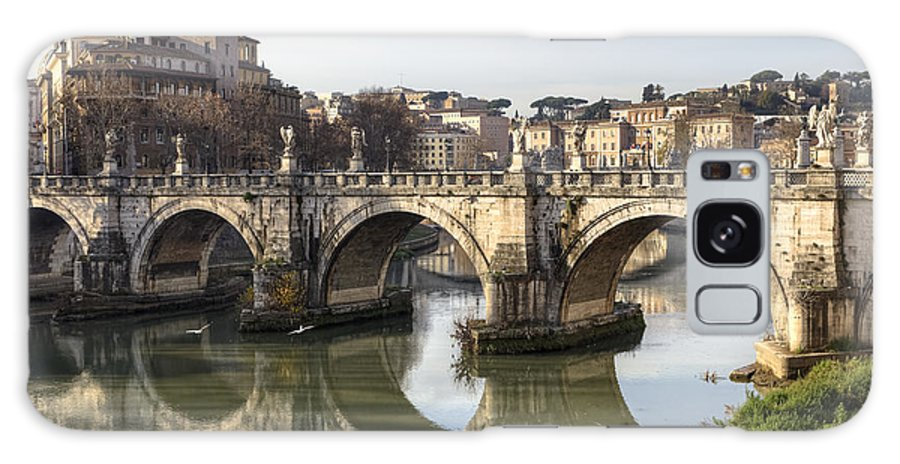 Ponte Sant'angelo Galaxy S8 Case featuring the photograph Rome - Ponte Sant'angelo by Joana Kruse