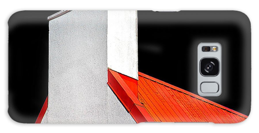 Red Galaxy S8 Case featuring the photograph Roof And Chimney by Burney Lieberman