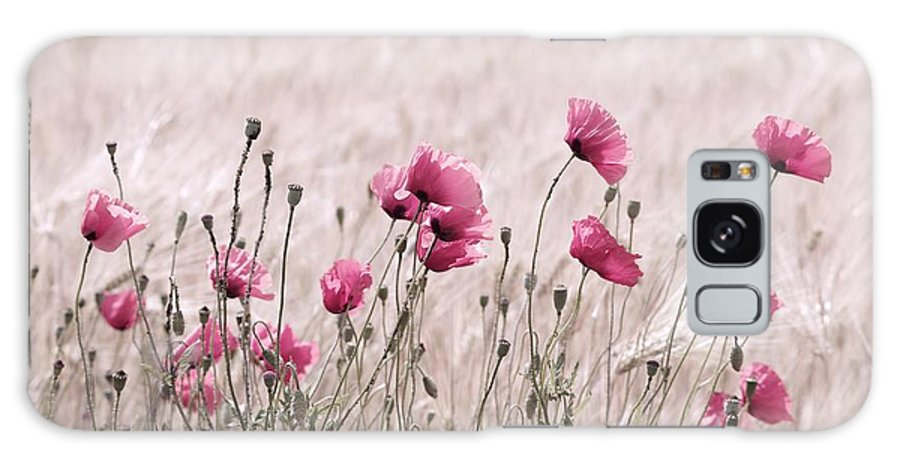 Abstrakt Galaxy S8 Case featuring the photograph Pink Poppy Field by Tanja Riedel