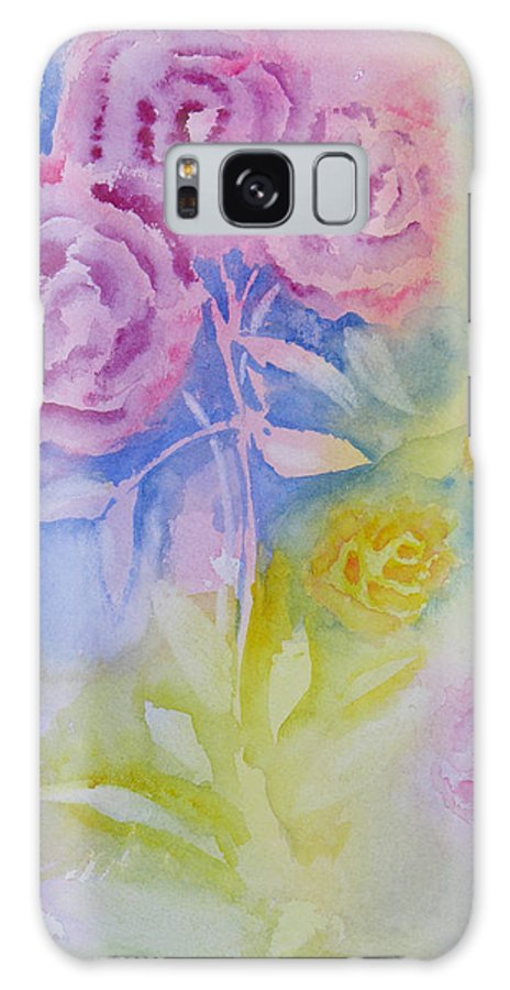 Roses Galaxy S8 Case featuring the painting Roses For You by Robert P Hedden