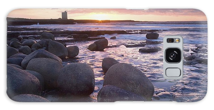 Atlantic Ocean Galaxy S8 Case featuring the photograph Roslee Castle, Easky, County Sligo by Gareth McCormack