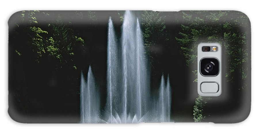 North America Galaxy S8 Case featuring the photograph Ross Fountain Dancing In Front Of Lush by Todd Gipstein
