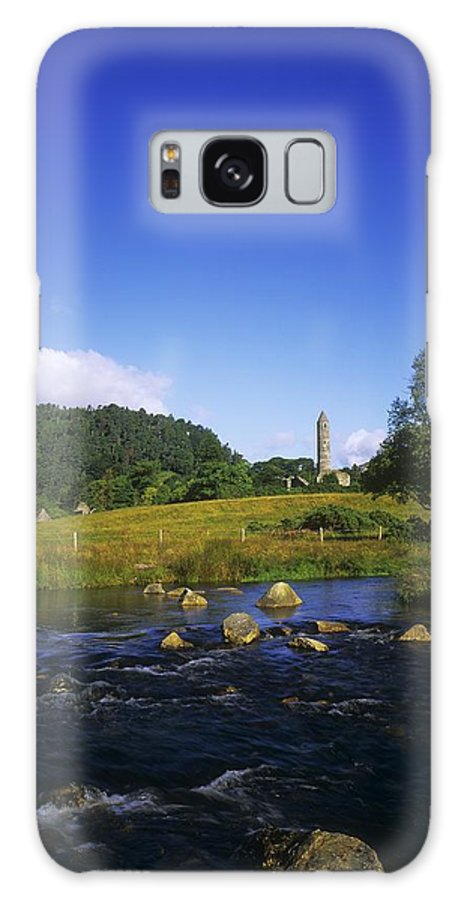 Abbeys Galaxy S8 Case featuring the photograph Round Tower And River In The Forest by The Irish Image Collection