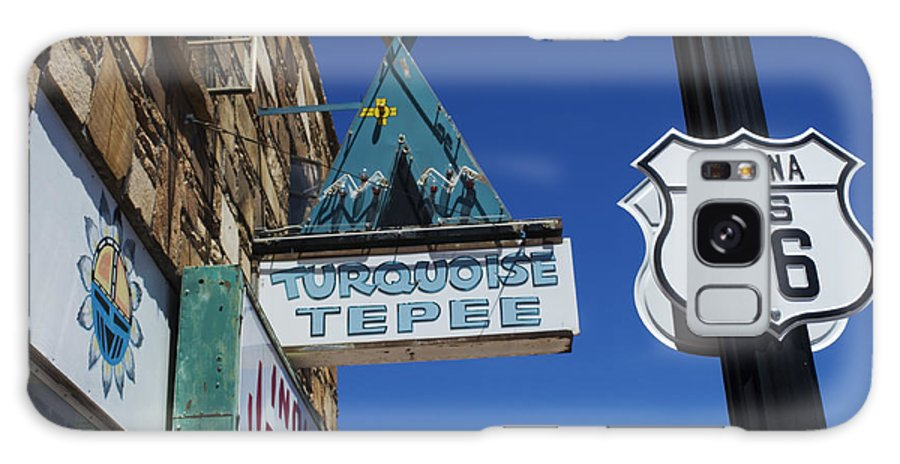 Wurlitzer Galaxy S8 Case featuring the photograph Route 66 Turquoise Tepee by Bob Christopher