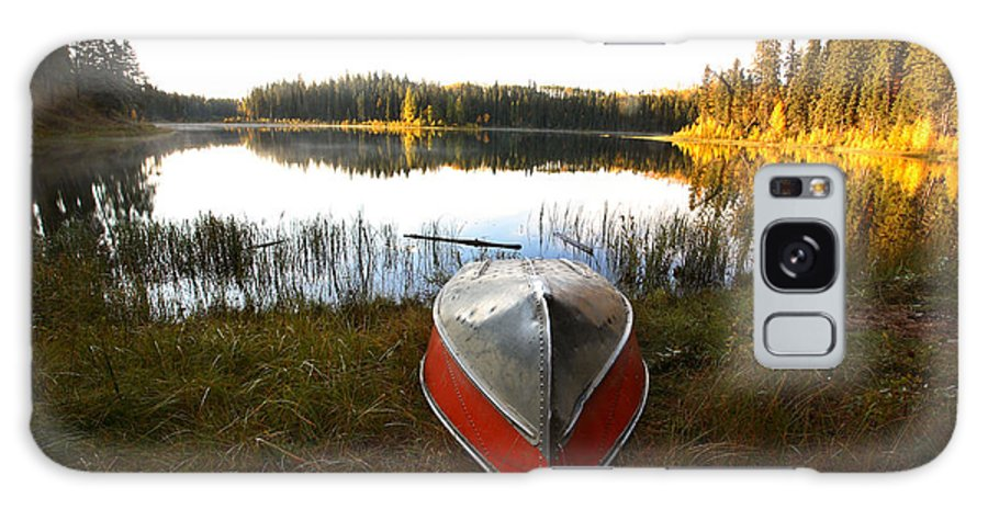 Rowboat Galaxy S8 Case featuring the photograph Rowboats At Jade Lake In Northern Saskatchewan by Mark Duffy