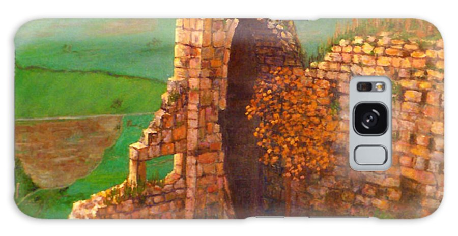 Ancient Ruins Galaxy S8 Case featuring the painting Ruined Castle View by Lou Ann Bagnall