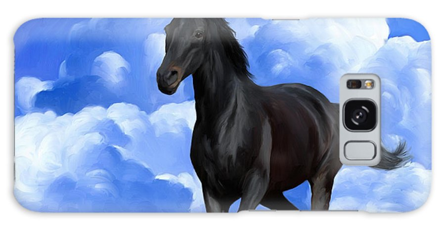 Horse Galaxy S8 Case featuring the painting Running Free by Snake Jagger