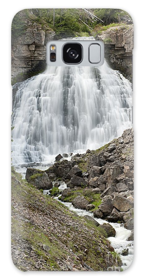 Bronstein Galaxy S8 Case featuring the photograph Rustic Falls Yellowstone by Sandra Bronstein