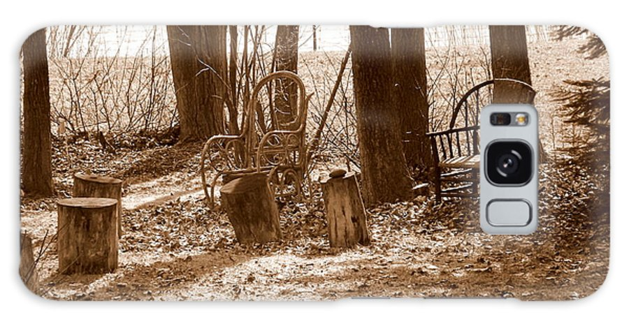 Chair Galaxy S8 Case featuring the photograph Rustic Living by Shelley Blair