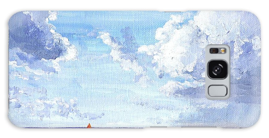 Sailing Galaxy S8 Case featuring the painting Sailing Away by Keith Wilkie