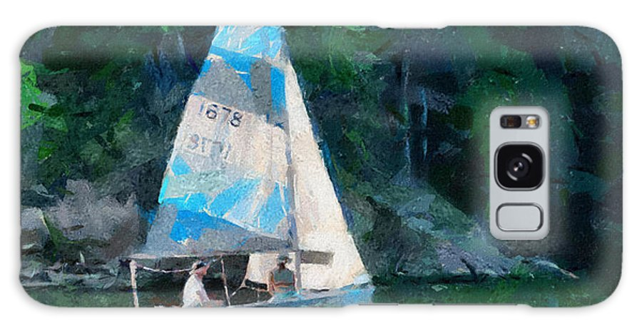 Sailing Galaxy S8 Case featuring the painting Sailing Cave Run Lake by Anne Kitzman