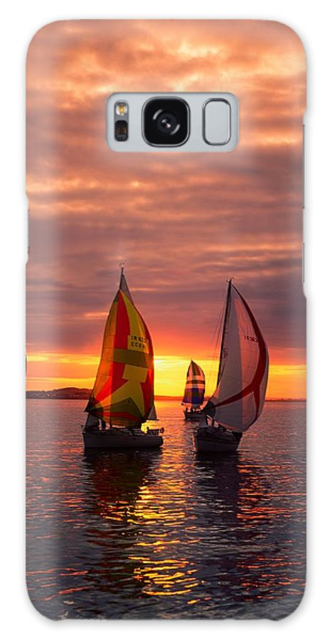 Color Image Galaxy S8 Case featuring the photograph Sailing Yachts by The Irish Image Collection