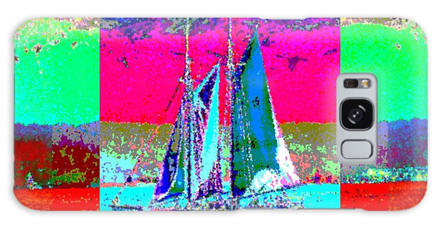Sail Galaxy S8 Case featuring the digital art Sailors Delight 2 by Tim Allen
