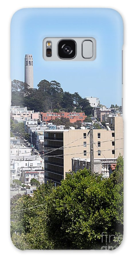 Aerial Galaxy S8 Case featuring the photograph San Francisco Coit Tower by Henrik Lehnerer