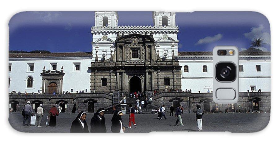 Ecuador Galaxy S8 Case featuring the photograph San Francisco Monastery Quito Ecuador by John Mitchell