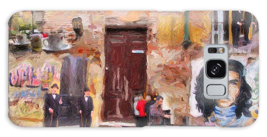 San Telmo Galaxy S8 Case featuring the digital art San Telmo Souvenir by Diane Dugas