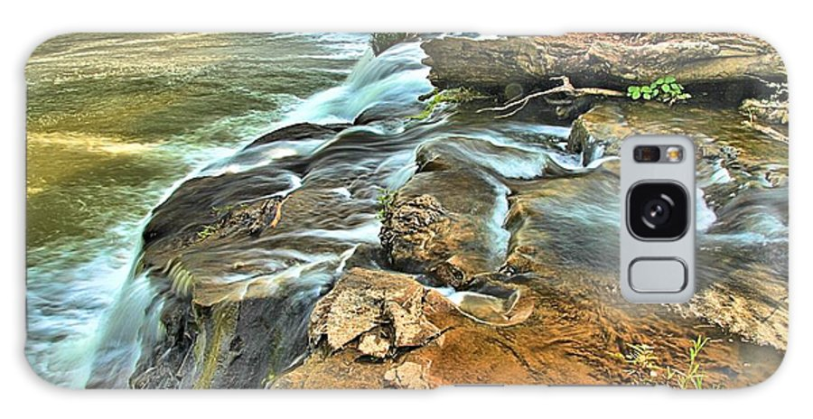West Virginia Waterfalls Galaxy S8 Case featuring the photograph Sandstone Falls In The New River by Adam Jewell