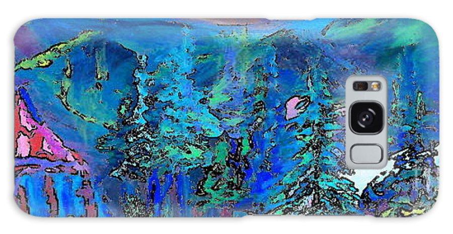 Deborah Montana Galaxy S8 Case featuring the painting Sapphire Evening by Deborah Montana