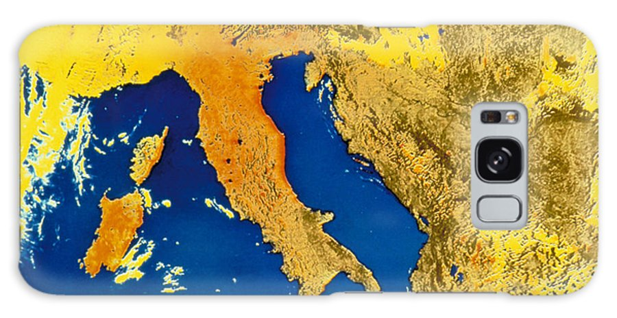 Astronomy Galaxy S8 Case featuring the photograph Satellite Image Of Italy by NOAA/NSIDC/Science Source