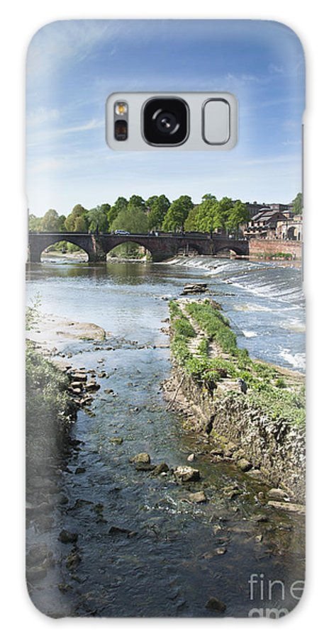 2011 Galaxy S8 Case featuring the photograph Scenic Landscape With Old Dee Bridge by Andrew Michael