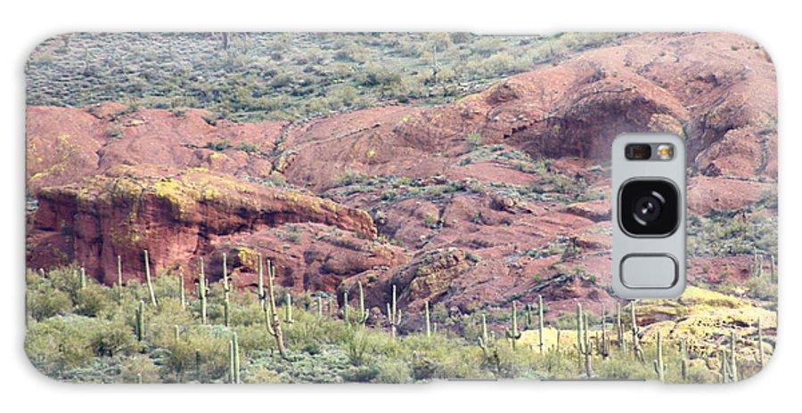 Landscape Galaxy S8 Case featuring the photograph Scenic Red Rocks by Kim Galluzzo Wozniak