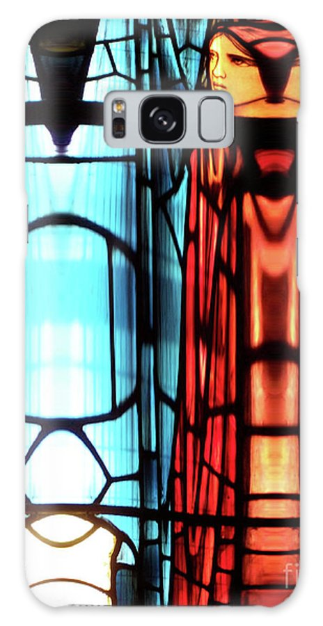 Abstract Galaxy S8 Case featuring the photograph Schism by Newel Hunter