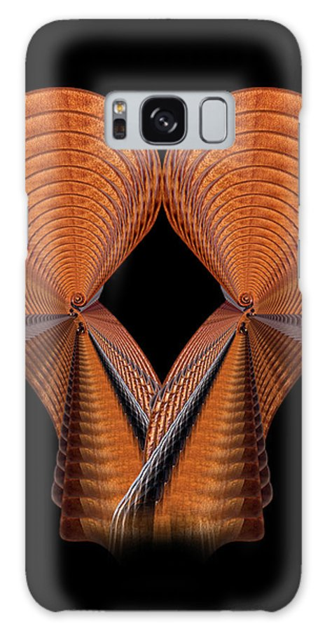 Strad Galaxy S8 Case featuring the photograph Scroll Construction by Endre Balogh