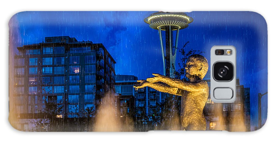 Rain Galaxy S8 Case featuring the photograph Seattle Rain Boy by Ken Stanback
