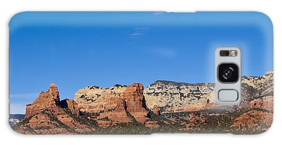 Galaxy S8 Case featuring the painting Sedona Panorama by Ron Telford