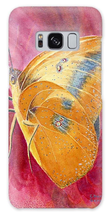Butterfly Art Galaxy S8 Case featuring the painting Self Esteem Butterfly by Charlotte Garrett