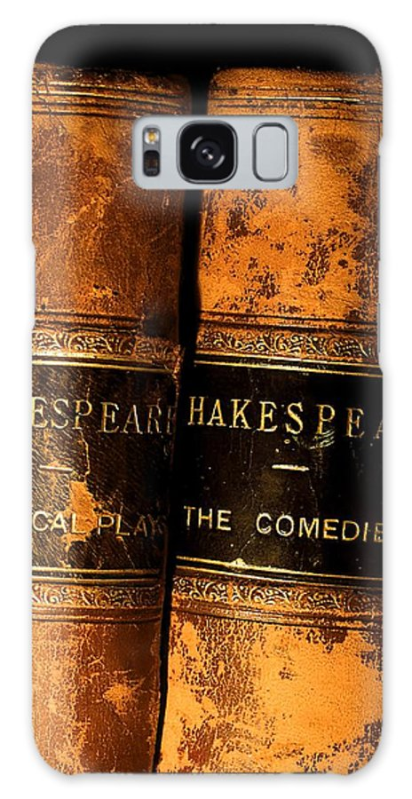 Book Galaxy S8 Case featuring the photograph Shakespeare Leather Bound Books by The Irish Image Collection